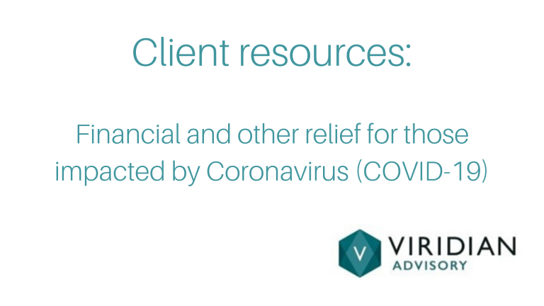Client resources for COVID-19 relief